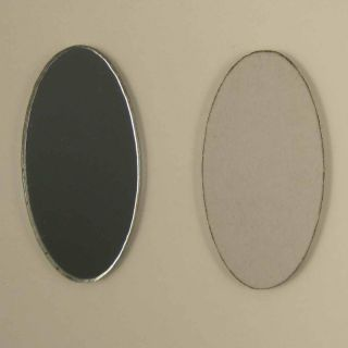 Oval Shaped Mirror Modern Fun Decorative Funky Shatterproof Acrylic