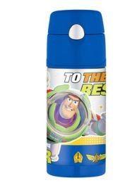 Thermos Funtainer 12 oz Straw Bottle Buzz Lightyear New