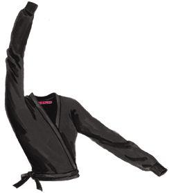 Gaynor Minden Black Adult Medium Silk Wrap Sweater