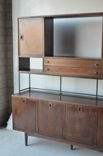 modern Hutch Wall Unit Stanley furniture vintage Paul Mccobb style