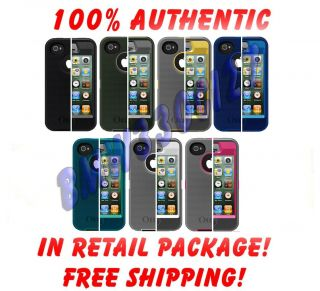 apple iPhone 4S 4 Otterbox Defender Series Case Cover w Belt Clip