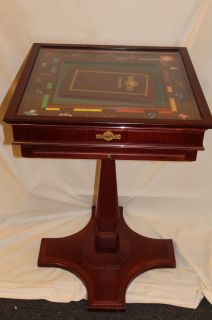 Edition Monopoly Table by Franklin Mint Silver & Gold Plated