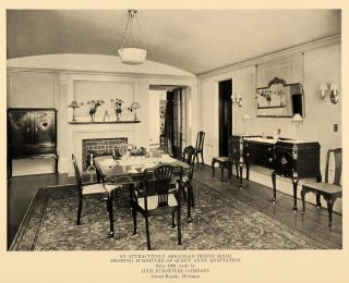 1919 Ad Luce Furniture Company Dining Room Queen Anne