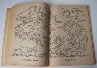 1962 CBS TV Lariat Sam Coloring Book Cartoon Cowboy