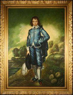 After Gainsborough Old Original Oil Large Blue Boy