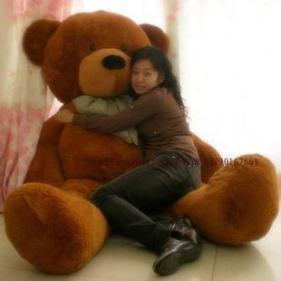 Giant jumbo teddy bear plush toy 1.8 meters tall