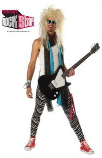 80s Adult Punk Rock Hair Band Maniac Rock Star Costume