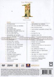 Yuri Las Numero 1 DVD CD New SEALED Exitos Historia Volver A Empezar