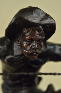 Frederic Remington Wooly Chaps Bronze Sculpture Art Deco Western