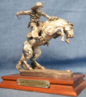 Western Art Figurine Frederic Remingtons The Bronco Buster