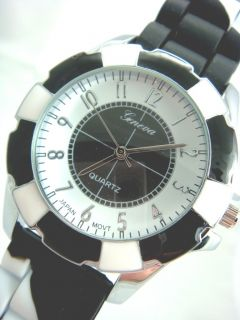Dye Enamel Silicone Jelly Crystal Geneva Watch Several Colors