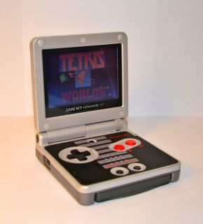 Nintendo Game Boy Advance SP Classic NES Limited Edition Black Silver