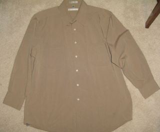 Geoffrey Beene 2 Pocket Chambray Long Sleeve Dress Shirt Size 17 32 33