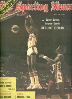 1974 Sporting News Virginia Squires George Gervin ABA