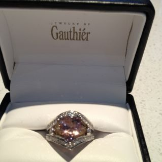 Scott Gauthier Custom Design Handcrafted 14k White Gold And Pink