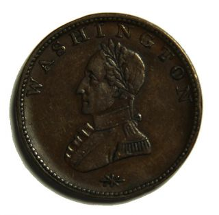 Undated George Washington Double Head Colonial Cent Baker 6 CH XF DET