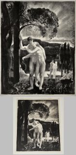 Remarkable George Bellows Original Litho Amour  1923 Pencil Signed