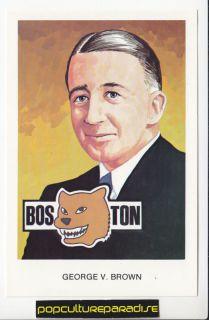George V Brown Boston NHL Hockey Hall of Fame Postcard