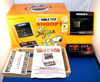 Snoopy Nintendo Game Watch Table Top w Box Electronic Handheld Vintage
