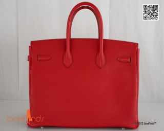 Find RARE Hermes Birkin Bag Rouge Garance 35cm Gold Hardware
