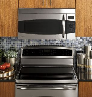 GE Profile 1 7 CU ft Over The Range Microwave Oven Stainless Steel