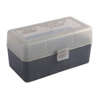 MTM Case Gard 50 Rd Lrg Rifle Plastic Ammo Storage Box 50 Rd RL 50 41T