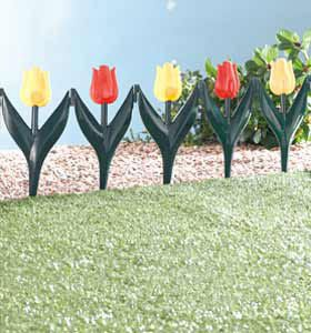 Tulip Garden Fence Edging Pack of 4 Fencing Flowers New