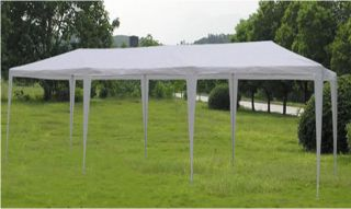 New 10 x 30 White Outdoor Canopy Gazebo Party Tent