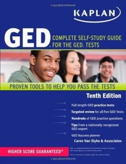 NEW Kaplan GED Complete Self Study Guide for the GED Tests [Paperback