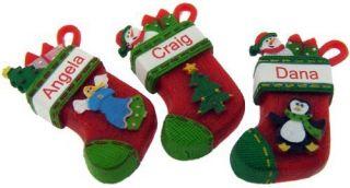 Itsy Bitsy Stocking Ornament JOY Ganz personalized Christmas gift