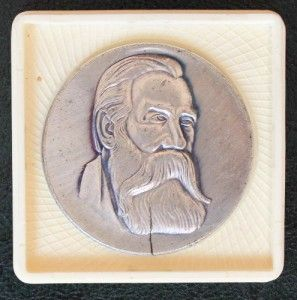 German Communist USSR Friedrich Engels Germany Soviet Medal Box