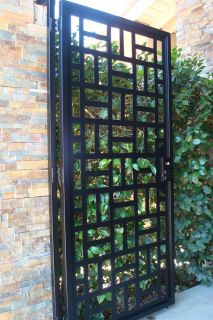 Contemporary Metal Gate on Sale Wrought Iron Garden Estate Modern