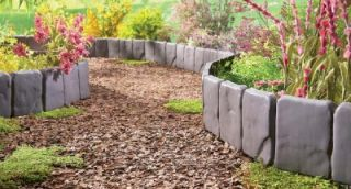 Cobble Stone Looking Garden Border and Edging Set New