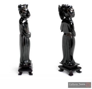 Collectible Geisha Statuette   Antique Cherry Amber Bakelite Faturan