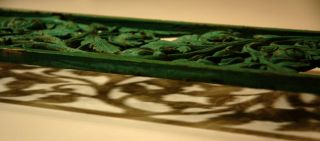 Antique Wrought Iron Garden Gate Segment w Rose Pattern