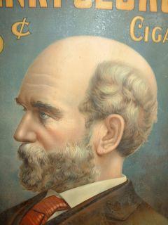 Henry George Cigar Tobacco Tin Self Framed Sign