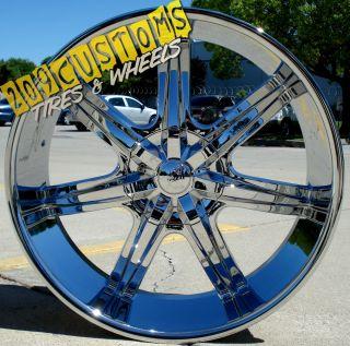 26 inch U2 Wheels Rims Tires U2W35 5x150 Toyota Tundra 2008 2009 2010