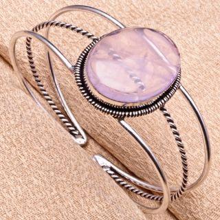 type cuff bracelet stone name rose quartz gemstone quantity 1