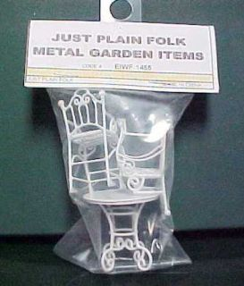 Just Plain Folk Garden Items Round Table 2 Chairs G