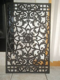 French Wrought Iron Garden Scroll Wall Decor Grille