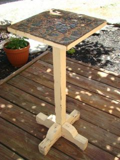 Antique Shabby Chippy Wood Plant Stand Garden Porch Patio