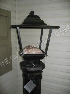 Frontgate Classic Fire Tall Iron Lantern Gas Light Lamp Post Firepit