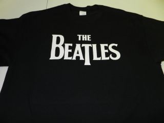 Shirt Tee Fab Four John Paul George Ringo 60s Music Black