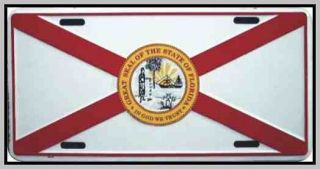 New Florida State Flag Metal License Plate Plates Tag Tags Car Front