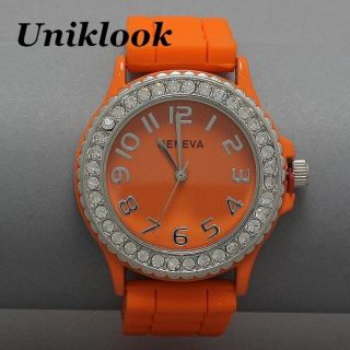 Geneva Platinum Luxury Rose Gold Clear Pave Crystal Womens Mens