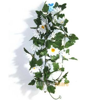 New 10 Pcs 60 Garland Wedding Silk Flower Vines Party Decor White