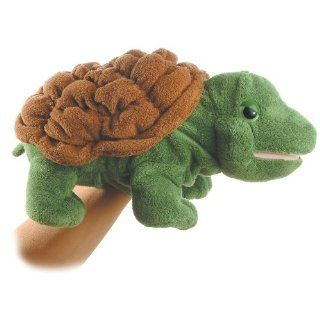 our delightful timmer the plush turtle full body puppet by aurora is