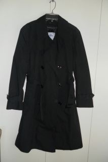 Garrison Collection Black All Weather Army Trench Coat w Lining 38S
