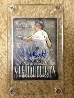 GEORGE BRETT AUTHENTIC AUTOGRAPHED KANSAS CITY ROYALS DONRUSS