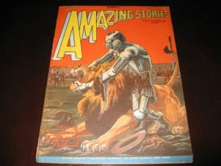 Amazing Stories Vol 3 7 October 1928 Classic Robot Cover Higher Grade